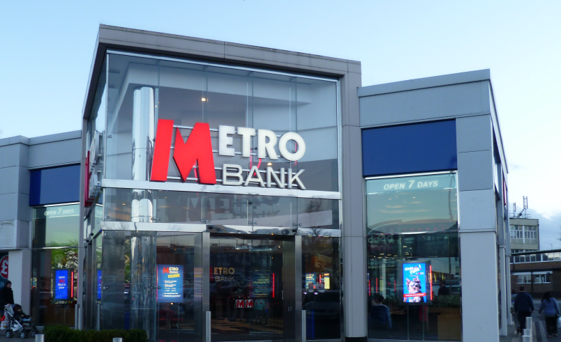 Metro Bank Branch in Borehamwood, London