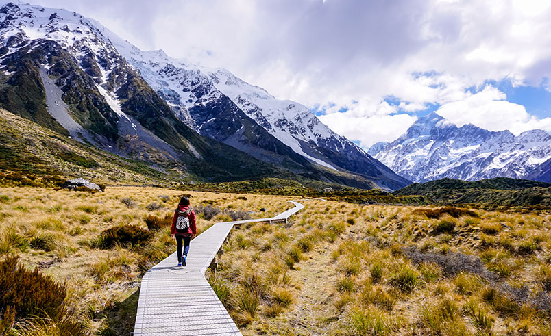 Hooker Valley trail, New Zealand